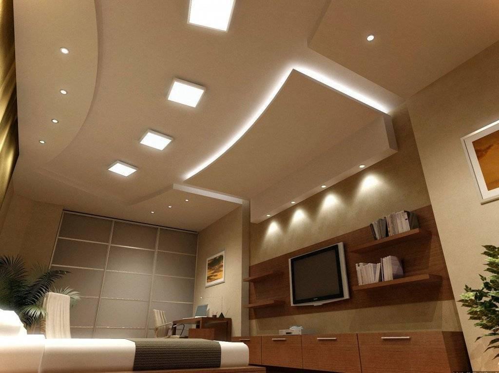 Потолок из гипсокартона для гостиной фото это