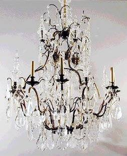 baccarat birdcage chandelier, late 19th century