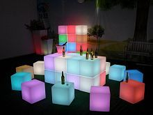 Светящийся LED Куб Jellymoon Cube 60 см RGB, на аккумуляторе JM 023A Jellymoon в интерьере